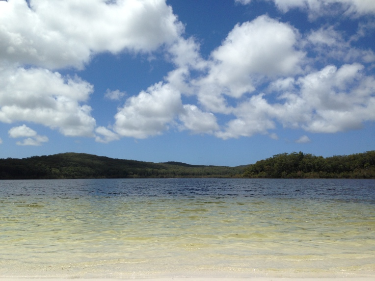 The beautiful Lake McKenzie